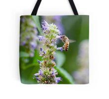 Bee on Blue Flowers 1 Tote Bag