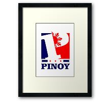 Pinoy Design - P is for Pinoy Framed Print