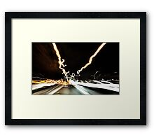 freeway timewarp Framed Print