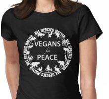 Vegans for Peace 4 Womens Fitted T-Shirt