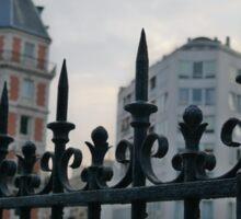 Pointy Fence in Paris Sticker