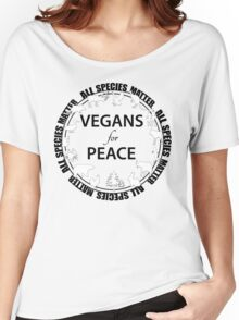 Vegans for Peace 2 Women's Relaxed Fit T-Shirt