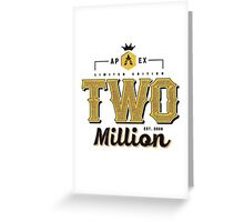 Faze Apex   Limited Edition   2 Million Subscribers   White Background    HIGH QUALITY Greeting Card
