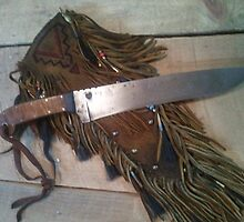 Knife & Fringed Sheath by JoySpirithawk