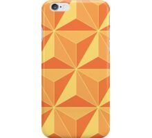 Spaceship Earth - Orange iPhone Case/Skin
