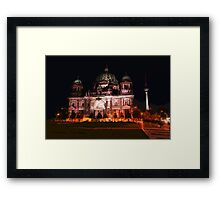 sketch / illustation of the berlin cathedral  Framed Print