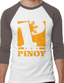 Pinoy Design - P is for Pinoy Men's Baseball ¾ T-Shirt