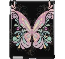 Colorful Ornately Designed Butterfly Graphic with flourishes iPad Case/Skin