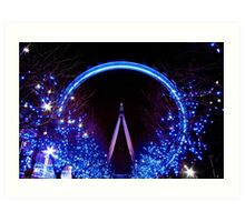 Blue London Eye Art Print