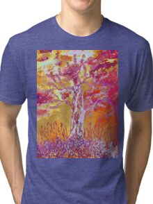 Sunset in the woods Tri-blend T-Shirt