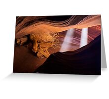 Light Beams in the Canyon Greeting Card