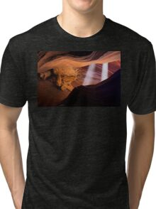 Light Beams in the Canyon Tri-blend T-Shirt
