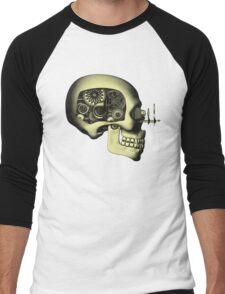 Vintage Steampunk Automaton Skull #1 Men's Baseball ¾ T-Shirt