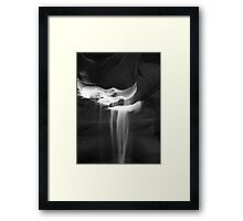Flowing Sand in Antelope Canyon ~ Black & White Framed Print