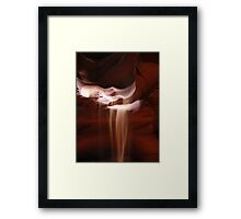 Flowing Sand in Antelope Canyon Framed Print