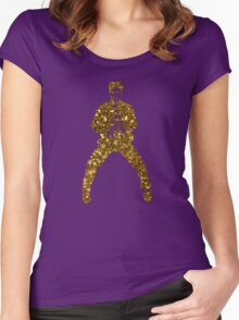 gold elvis presley Women's Fitted Scoop T-Shirt