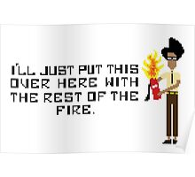 The I.T Crowd Fire Extinguisher Poster