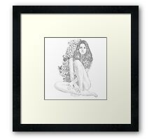 Girl with Flowers Framed Print