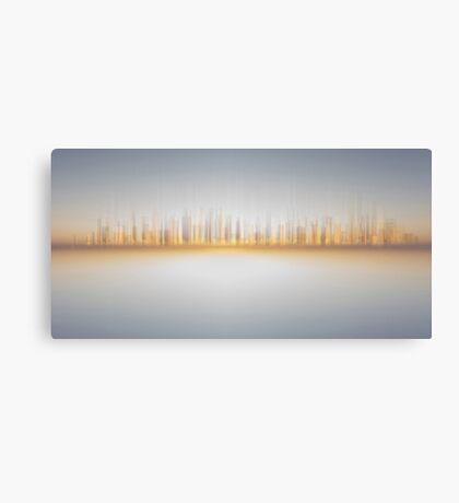 Sunset City , abstract skyline - Digital Art/illustration - cityscape Canvas Print
