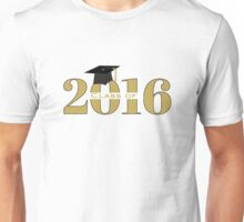 Gold Class of 2016 with Mortarboard Unisex T-Shirt