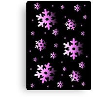 Pink Snowflakes Canvas Print