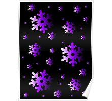 Purple Snowflakes Poster