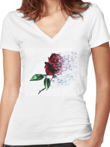 Every Rose Has ItsThorn Women's Fitted V-Neck T-Shirt