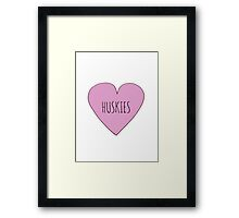 Husky Love Framed Print