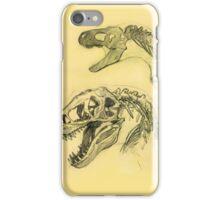 Sketched Dinosaur Bones iPhone Case/Skin