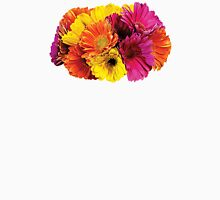 Gerbera Daisies Mixed Colors Womens Fitted T-Shirt