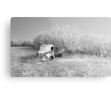 Waiting On Springs - Black and White Metal Print
