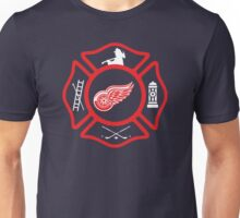 Detroit Fire - Red Wings style Unisex T-Shirt