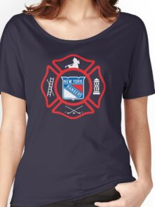 FDNY - Rangers style Women's Relaxed Fit T-Shirt