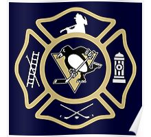 Pittsburgh Fire - Penguins style Poster