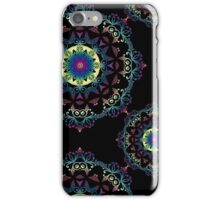 Abstract mandala-pattern on the black background iPhone Case/Skin