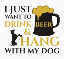 BEER AND MY DOG Kids Clothes