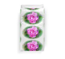 Pink Rose White Vignette Duvet Cover