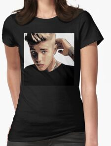 Justin Beiber Womens Fitted T-Shirt