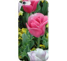 Pink and White Tulips iPhone Case/Skin
