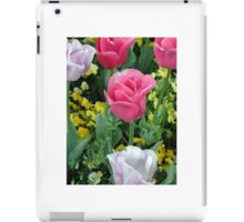 Pink and White Tulips iPad Case/Skin