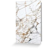 White Gold Marble Greeting Card