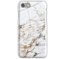 White Gold Marble iPhone Case/Skin