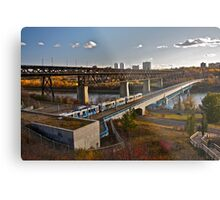 Bridges and Trains Metal Print