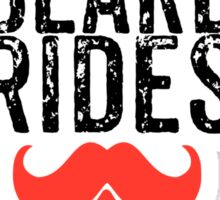 Free Beard Rides Sticker