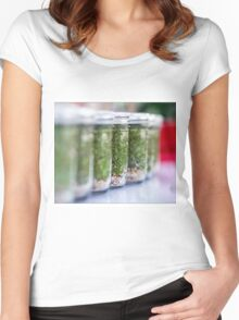 Chia Anyone? Women's Fitted Scoop T-Shirt