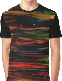 Multi Color Brush Stroke Graphic T-Shirt
