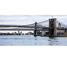 Brooklyn Bridge mixed media Photographic Print