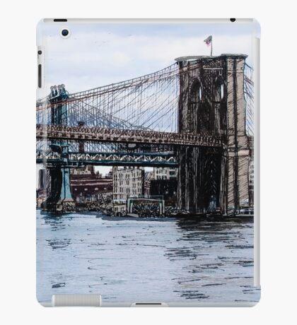 Brooklyn Bridge mixed media iPad Case/Skin