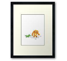 Monster and his pet Framed Print
