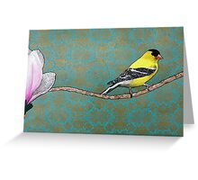 Channing--Goldfinch and Magnolia Greeting Card